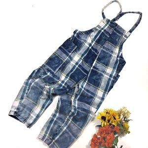 UO BDG Cropped Checkered Overalls